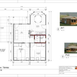 Kit- Residencia com 2 quartos