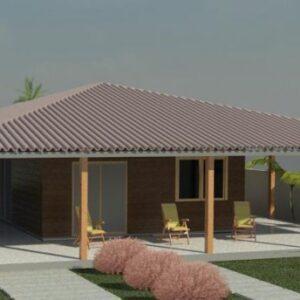 Kit - Projetos casas de madeira