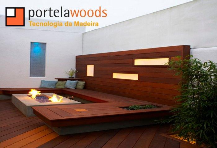 jardim deck de madeira:Jardim Com Deck – Portela Woods