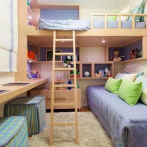 Quarto infantil com moveis planejados