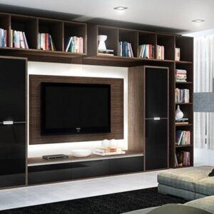 Sala de estar com moveis planejados