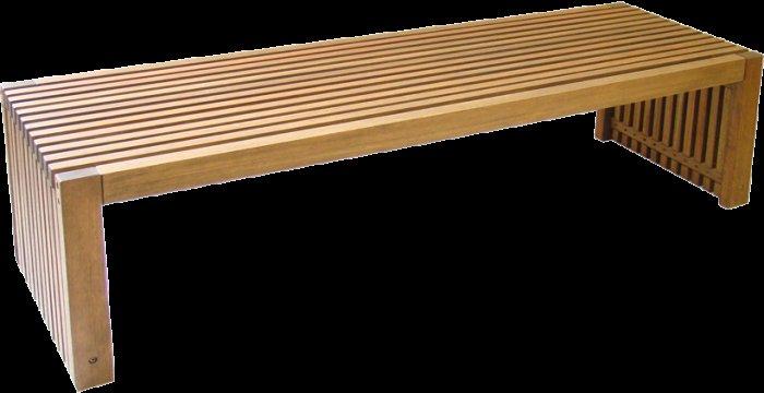 Banco ripado de madeira