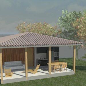 Kit - Casas com 2 quartos e varanda