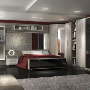quarto de casal com moveis planejados