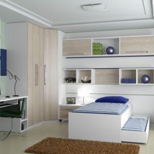 quarto de solteiro com moveis planejados