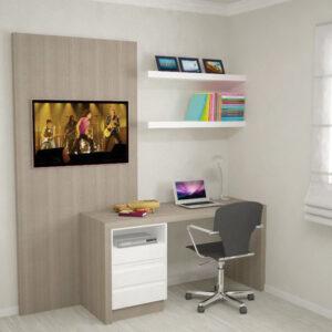 sala de estudo com moveis planejados