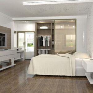suite casal com moveis planejados