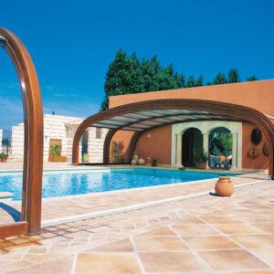 Cobertura de madeira para piscinaCobertura de madeira para piscina