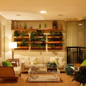 Jardim vertical com deck