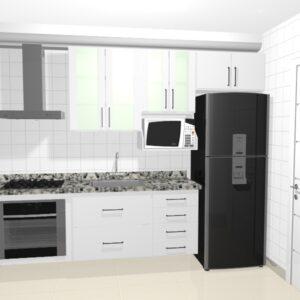 cozinha pequena com moveis planejados