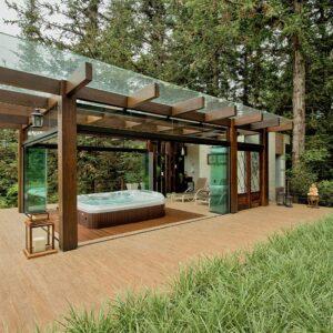 pergolado de madeira para area externa