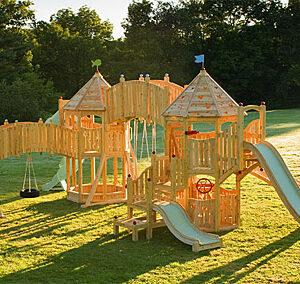 playground de madeira infantil grande