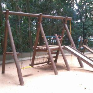 playground de madeira infantil baixo