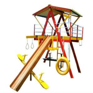 playground de madeira completo pequeno