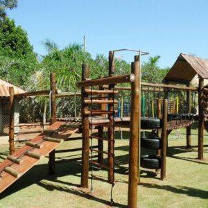 playground de madeira infantil completo