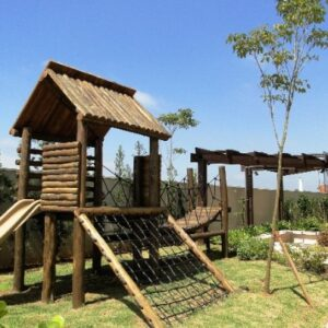playground de madeira para jardim